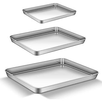 AEMIAO Stainless Steel NonStick Baking Trays Baking Sheets Oven Trays Set