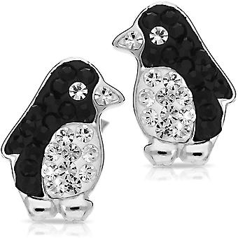 "Cute""Underwater Champion"" Penguin Aquatic Bird Earrings"