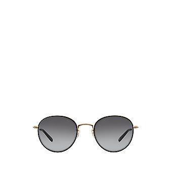 Garrett Leight PALOMA SUN matte black-gold unisex sunglasses