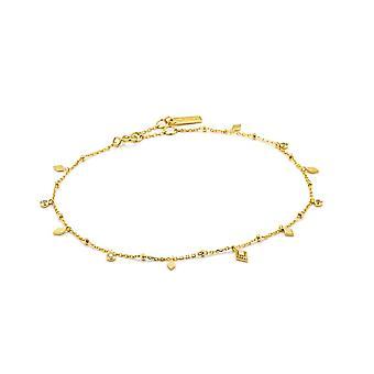 Ania Haie Sterling Prata Brilhante Ouro Banhado Bohemia Anklet F016-01G