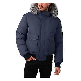 Pajar Lucas Mens Bomber Real Fur Trim Hood - Graphite Exculsive