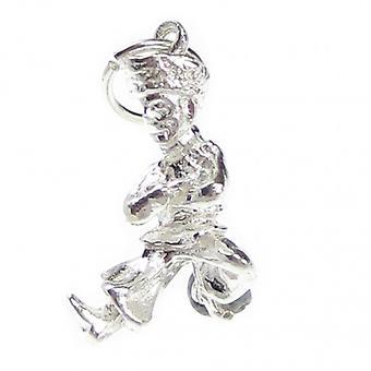 Rosyjski tancerz Sterling Silver Charm .925 X 1 Taniec Rosja Charms - 7614