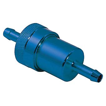 Fuel Filter 6 mm STD Anodised Blue IN Line Motorcyle Washable