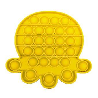 Stuff Certified® Pop It Octopus - Fidget Anti Stress Toy Bubble Toy Silicone Yellow