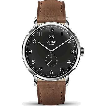 VOTUM - Reloj Unisex - VINTAGE - VINTAGE - V09.10.30.04 - correa de cuero - marrón claro