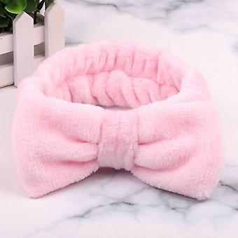Kirje Omg Coral Fleece Soft Bow Wash Face Headband