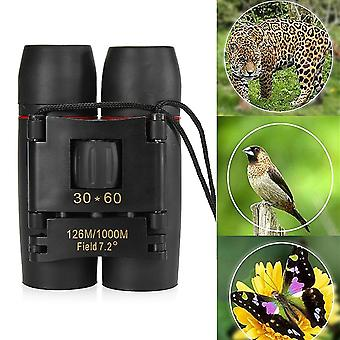 IPRee 30x60 Folding Binocular HD Red Coated Film Lens Telescope Low Light Level Night Vision 126M/10