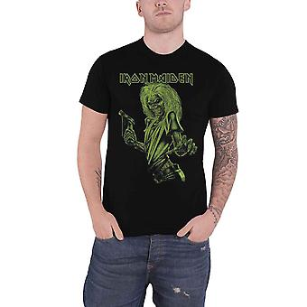 Iron Maiden T Shirt One Colour Eddie Band Logo  new Official Mens Black