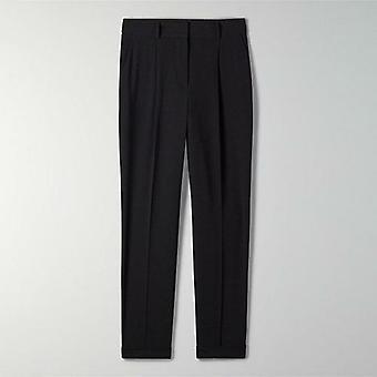 High Waist Pockets Zipper Straight Office Ladies Pants