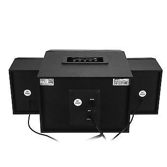 Multimedia 5 Kanava 2.1 Työpöytä kaiutin Led Light Puinen Kotikaiutin USB