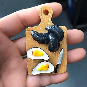 Mini 1/6 Miniature Dollhouse Fried Egg Chili Cutting Board Accessories