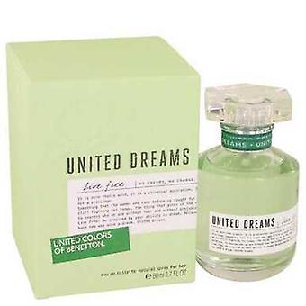 United Dreams Live Free By Benetton Eau De Toilette Spray 2.7 Oz (damer) V728-535360