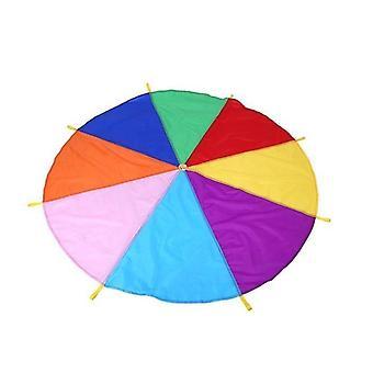 Outdoor Rainbow Umbrella Parachute Toy, Jump-sack Ballute Play Teamwork Game