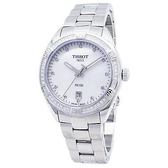 Tissot t-klassisk pr 100 Lady sport t 101.910.61.116.00 T1019106111600 diamant accenter quartz kvinder ' s Watch