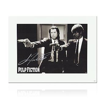 John Travolta Pulp Fiction Signed Poster: Divine Intervention