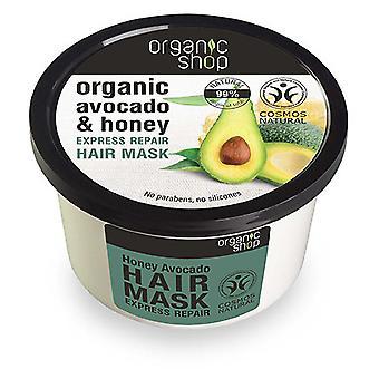 Organic Shop Reparierende Haarmaske mit Honig und Avocado 250 ml