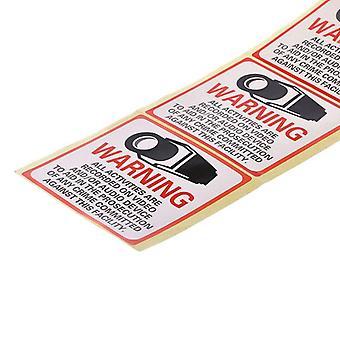 Turvakamera käytössä Varoitustarra