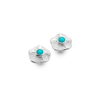 Sterling Silver Stud Earrings - Origins Rock Pool + Turquoise