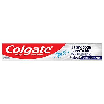 Colgate baking soda and peroxide whitening toothpaste, brisk mint, 6 oz