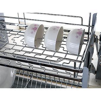 Cesta de elevação de elevação de prato forçou o armazenamento do armário de aço inoxidável da cesta