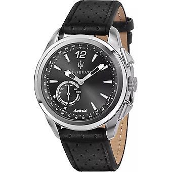 Maserati R8851112001 Homme Traguardo Hybrid Black Leather Strap Smartwatch