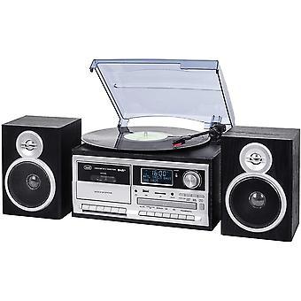 Stereo Bluetooth Plattenspielersystem mit Digitalempfnger DAB / DAB+, Codierungfunktion, MP3-Player,