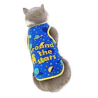 Sommar kattkläder, rymdväst, luftkonditionering kostym, husdjur kläder