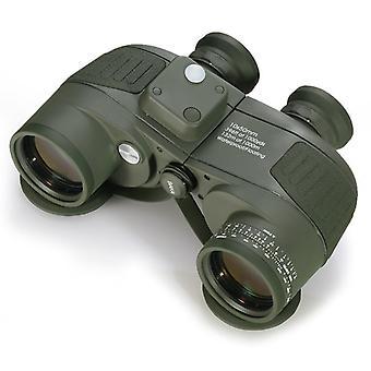 Leistungsstarke Erwachsene Fernglas 10 x 50 hohe wasserdichte Teleskop integrierte Kompass und Rangefinder mit Gurtgurt, für Vogelbeobachtung, Jagd und Bootsnavigation (grün)