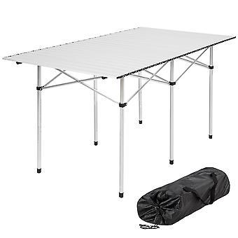 tectake Camping Table Aluminium 140x70x70 cm sammenleggbar