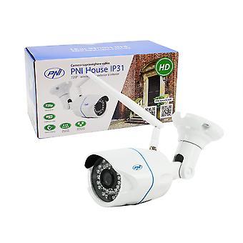 PNI House IP31 IP Camera 1MP 720P trådløst IP-kamera med udvendig og indvendig og microSD slot