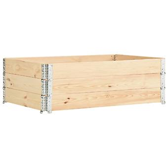 vidaXL Pallet top frame 3 pcs. 50×150 cm solid pine wood