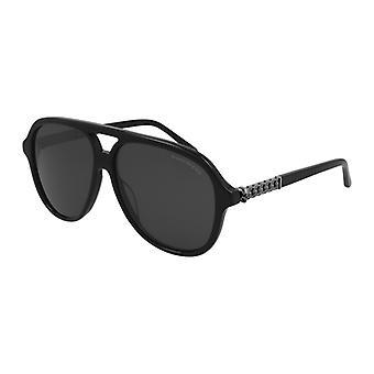 Alexander Mcqueen AM0322S 001 Schwarz/Grau Sonnenbrille