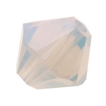 Kryształ Swarovskiego, #5328 Bicone Koraliki 4mm, 24 Sztuk, Jasnoszary Opal