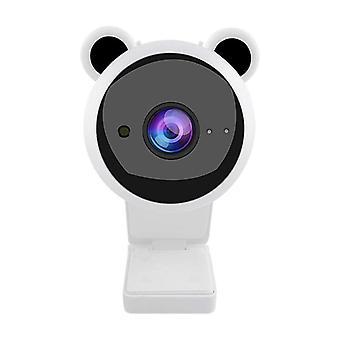 Nuova webcam USB Desktop 1080P HD Webcam Webcam Computer Webcam Web Integrata in webcam per computer microfonici (bianco)