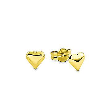 Amor - Örhängen för kvinnor i gult guld 585, 0,5 cm