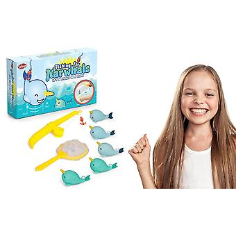 Tobar Fishing for Narwhals Children's Bath Game, Pack of 1