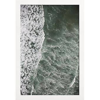 JUNIQE Print - Oceanic 01 - Oceaner, Have og Søer Plakat i Grå &grøn