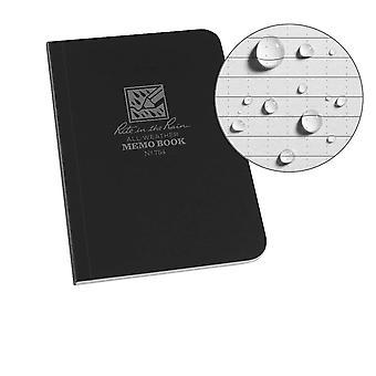 Rite In The Rain Unisex Field-Flex Memo Waterproof Notepad, Black, 3½ x 5-Inch