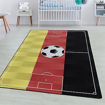 Tappeto camera per bambini GIOCO Short pile tappeto per bambini Calcio Germania