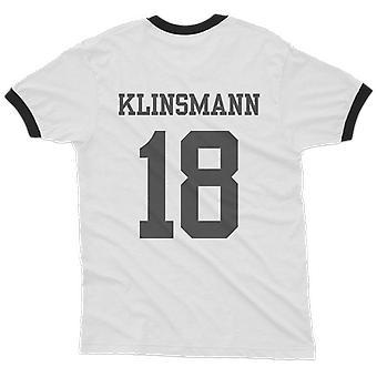 Jurgen klinsmann 18 germany country ringer t-shirt