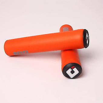 new orange soft silicone handle bar grips for bicycle mountain bike accessories sm31106
