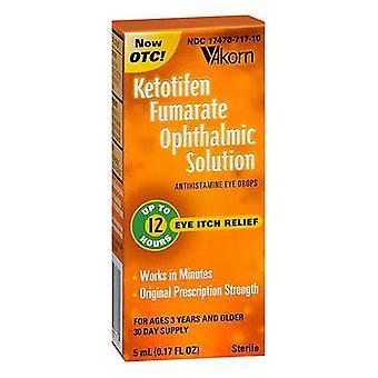 Akorn ketotifen fumarate ophthalmic solution, 5 ml