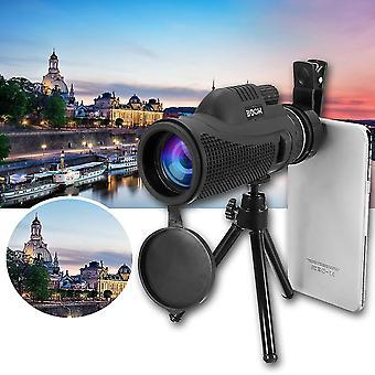 40x60 Yksikulaarinen Ultra HD Optinen Linssi Matala valo Yönäkö Teleskooppi + Clip + Jalusta Puhelimeen