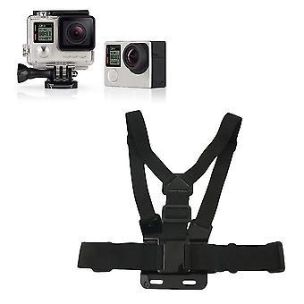 Arnés de montaje de cinturón de pecho elástico ajustable para la cámara Gopro Hero 3 +3 2 1