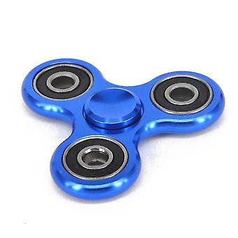 Trojúhelníková hliníková slitina prstu spinning top (modrá)