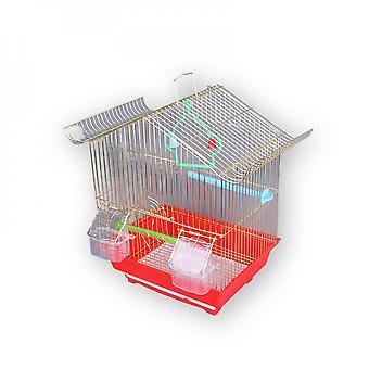 Wire Bird Cage Parrot Bird Thrush Acacia Bird Cage Electroplating Imitation Gold Bird Cage