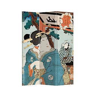 Fine Asianliving Room Divider Personvern Skjerm 3 Paneler W120xH180cm Japansk Kvinne