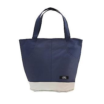 Thermal Insulated Lunch Bag Tote Women Men Picnic Cooler Box Pouch Office School Food Storage(Navy)