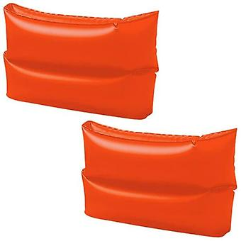 Intex Inflatable Arm Bands Double Air Chambers 25 x 17cm Bright Orange 8 Vinyl
