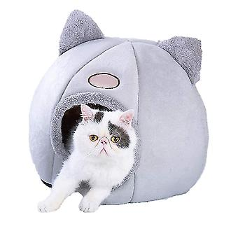 Pet Nest Aftagelige Katte House Soft Dog Cave Vinter Varm Taske Room (32 * 32 * 35CM)